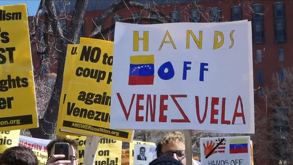 Protesters rally in Washington, DC, supporting Venezuelan President Nicolas Maduro - Sputnik International