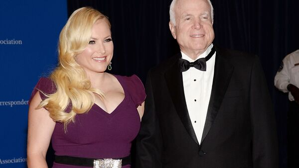 In this May 3, 2014 file photo, Meghan McCain, and Sen. John McCain attend the White House Correspondents' Association Dinner in Washington - Sputnik International
