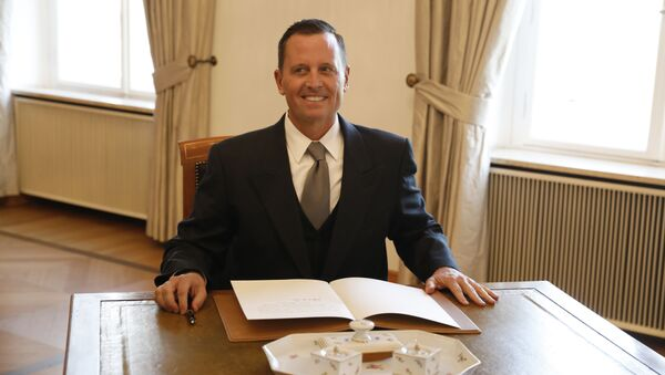 (FILES) This file photo taken on May 8, 2018 shows then newly accredited US Ambassador to Germany Richard Grenell after he signed his letter of accreditation during an accreditation ceremony for new Ambassadors in Berlin, Germany. - Sputnik International
