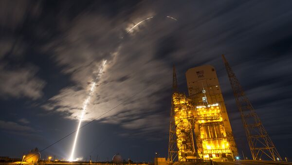 The 45th Space Wing supported NASA's successful launch of Orbital ATK's Cygnus spacecraft aboard a United Launch Alliance Atlas V rocket from Space Launch Complex 41 at Cape Canaveral Air Force Station, Fla., March 22, 2016. The rocket carrying Cygnus cargo vessel OA-6 is a resupply mission to the International Space Station supporting NASA's Commercial Resupply Services program. - Sputnik International