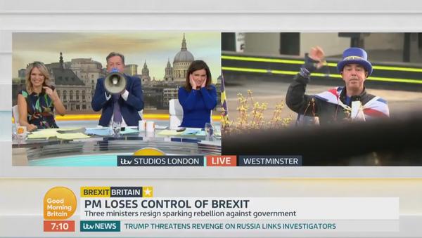 After months of Mr. Stop Brexit interrupting @ranvir01, the @GMB team have finally got their revenge!  - Sputnik International