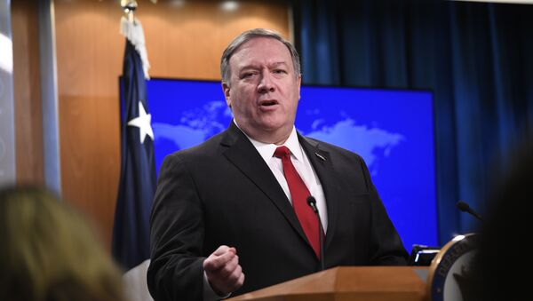 Secretary of State Mike Pompeo answers a question during a news conference on Tuesday, March 26, 2019, at the Department of State in Washington - Sputnik International