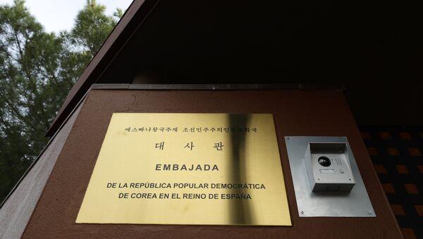 A view of North Korea's embassy in Madrid, Spain, Thursday, Feb. 28, 2019. - Sputnik International