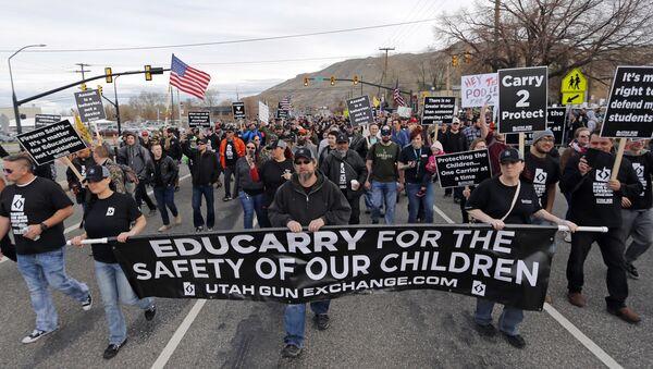 Pro-gun protesters in Utah - Sputnik International