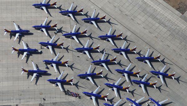 Самолеты Southwest Airlines Boeing 737 MAX в аэропорту в Викторвилле, штат Калифорния - Sputnik International