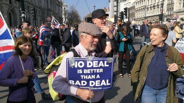 Protesters rally against delay of the Brexit process in London, the United Kingdom on 29 March, 2019 - Sputnik International