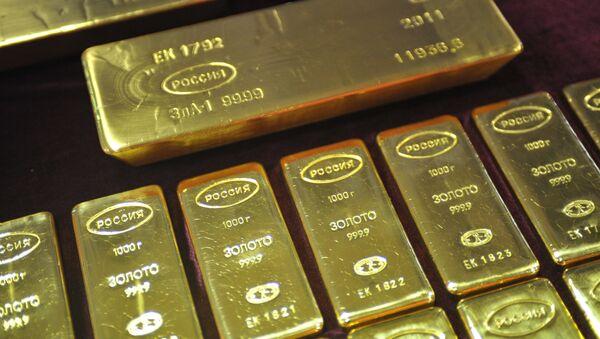 Russian gold bars. - Sputnik International