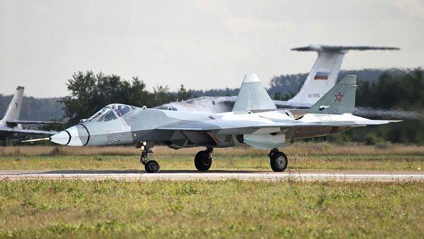 Second flying prototype of T-50 PAK FA b/n 52 - Sputnik International