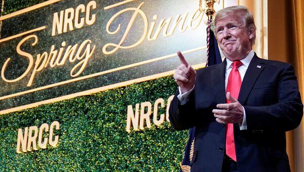 U.S. President Donald Trump arrives to speak at the National Republican Congressional Committee Annual Spring Dinner in Washington, U.S., April 2, 2019 - Sputnik International