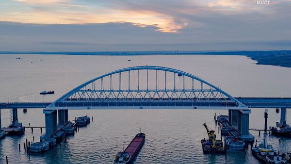 The fairway section of Crimean Bridge was secured against collision with vessels - Sputnik International