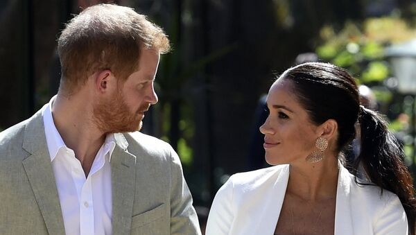Britain's Prince Harry and Meghan, Duchess of Sussex visit the Andalusian Gardens in Rabat, Morocco, Monday, Feb. 25, 2019. The Duke and Duchess of Sussex are on a three day visit to the country. - Sputnik International