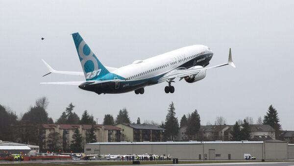 A Boeing 737 MAX 8 takes off during a flight test in Renton, Washington - Sputnik International