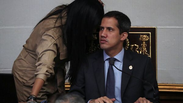 Venezuelan opposition leader Juan Guaido, who many nations have recognised as the country's rightful interim ruler, takes part in a session of the National Assembly in Caracas, Venezuela April 2, 2019 - Sputnik International