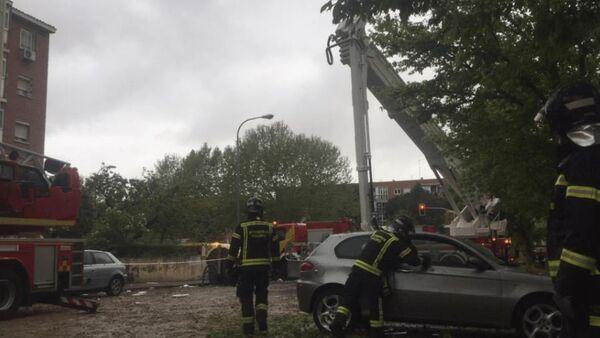 Gas Explosion Destroys Whole Storey in Madrid Building - Sputnik International