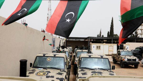 Military vehicles, which were confiscated from Libyan commander Khalifa Haftar's troops, are seen in Zawiyah, west of Tripoli, Libya April 5, 2019. - Sputnik International