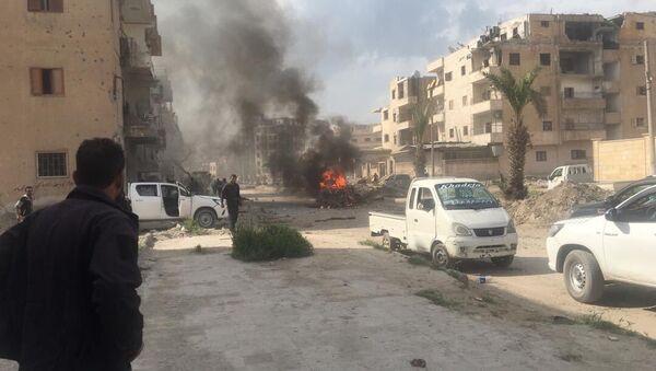 Car bomb that exploded just in al-Nour Street of Raqqa - Sputnik International