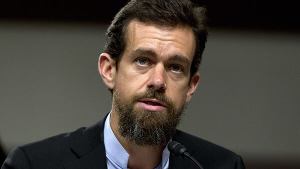 Twitter CEO Jack Dorsey testifies before the Senate Intelligence Committee hearing on 'Foreign Influence Operations and Their Use of Social Media Platforms' on Capitol Hill, Wednesday, Sept. 5, 2018, in Washington - Sputnik International