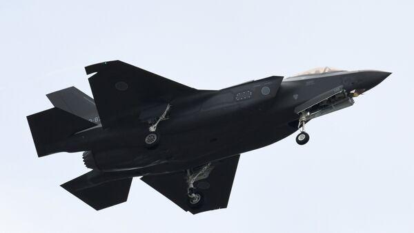 An F-35 fighter aircraft of the Japan Air Self-Defense Force - Sputnik International