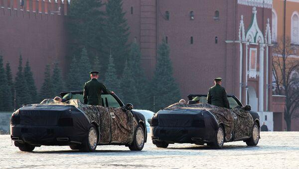 Cabriolets of Aurus passed on Red Square - Sputnik International