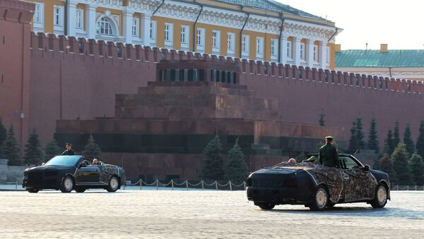 Aurus Cabriolet at the Red Square, Moscow - Sputnik International