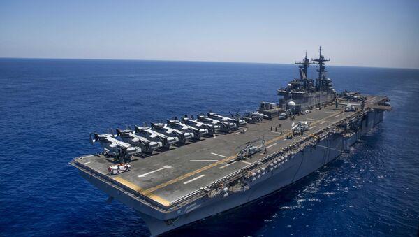 The amphibious assault ship USS Wasp (LHD 1) - Sputnik International