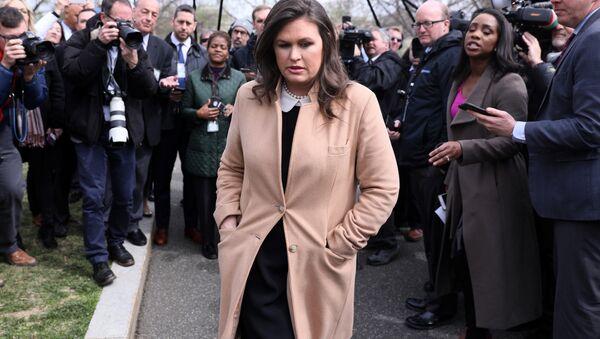 White House Press Secretary Sarah Huckabee Sanders - Sputnik International