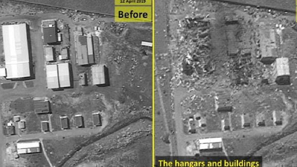 Before and after photos of a possible Iranian missile factory in Syria - Sputnik International