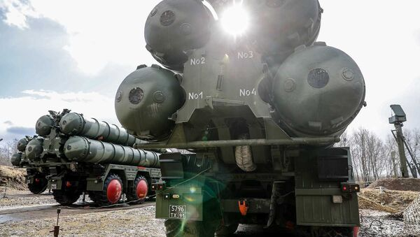Russian S-400 Triumph missile system launchers are pictured during combat duty at an air defence unit of the Baltic fleet in Kaliningrad region, Russia - Sputnik International