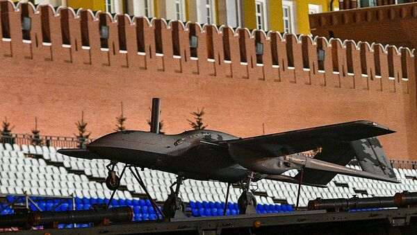 Russia's Korsar drone flight model during Russian army rehearsals for 9 May 2019 Victory Day military parade - Sputnik International