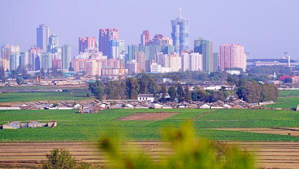Pyongyang skyline from Mangyongdae hill, DPRK - Sputnik International