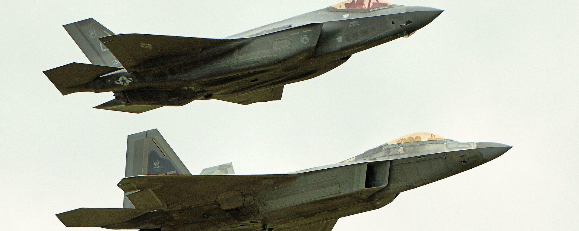 F22 Raptor & F35 Lightning II  - Sputnik International, 1920, 18.09.2021