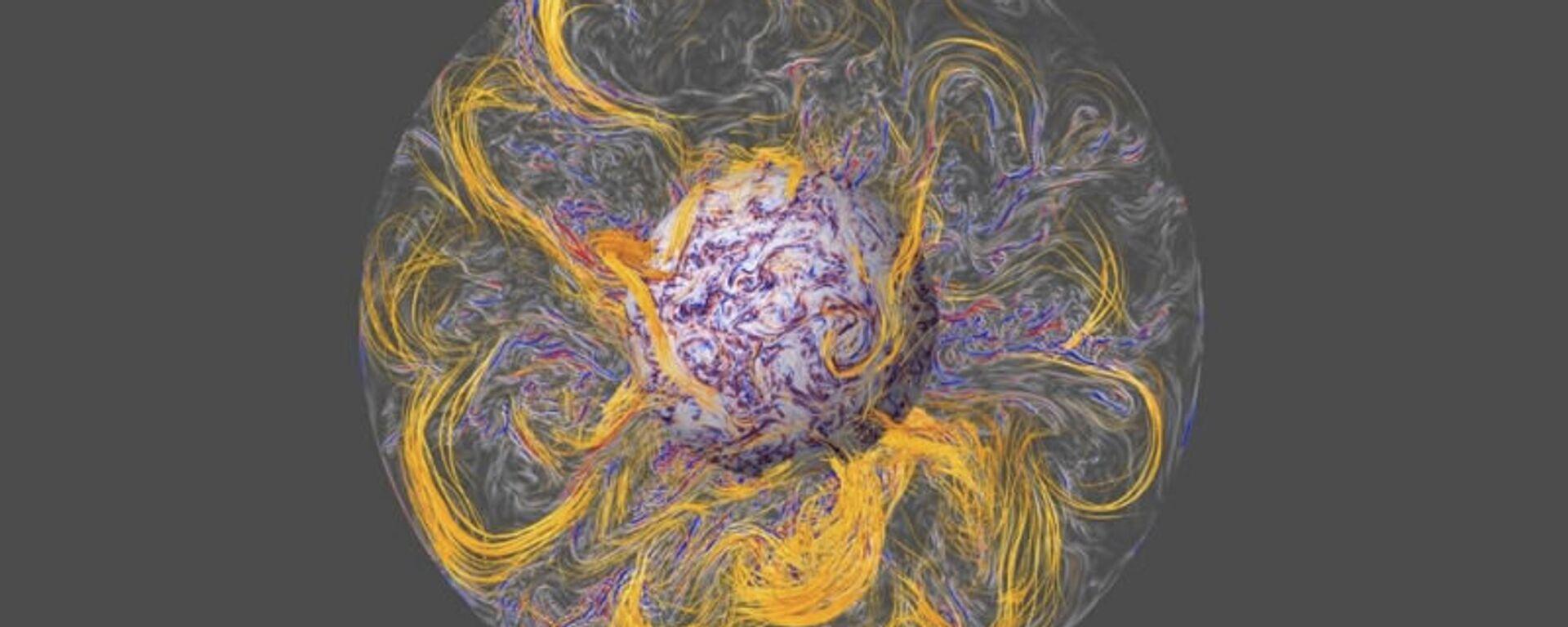 A simulation of the Earth's magnetic field - Sputnik International, 1920, 20.08.2021