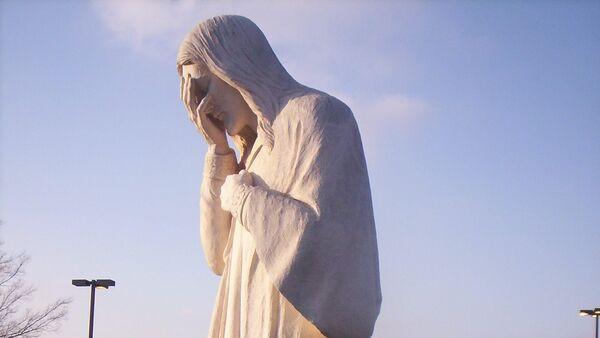Jesus statue from Oklahoma City Memorial - Sputnik International