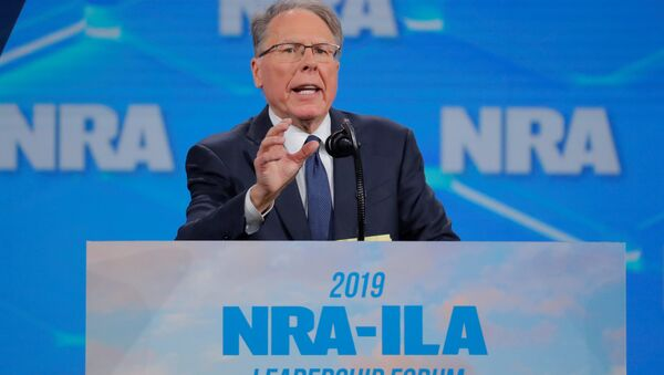 Wayne LaPierre, executive vice president and CEO of the National Rifle Association (NRA) at the NRA annual meeting in Indianapolis, Indiana - Sputnik International