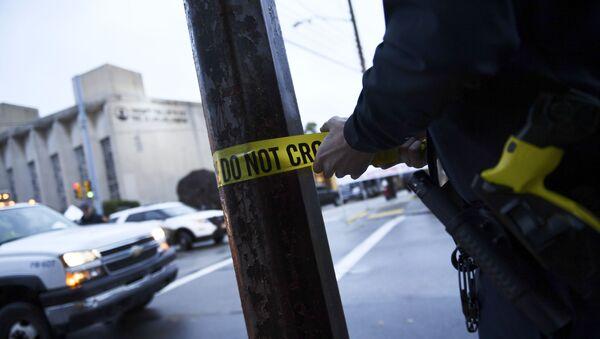 US police tape - Sputnik International