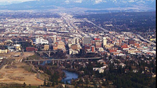 aerial photograph of Spokane, Washington - Sputnik International