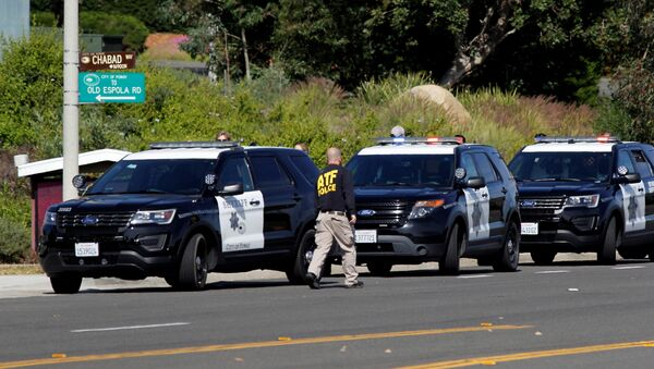 Police Secure the Scene of a Shooting Incident at the Congregation Chabad Synagogue in Poway - Sputnik International