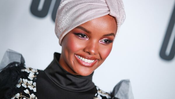 Halima Aden attends House Of Uoma presents the launch of Uoma Beauty - The World's First Afropolitan Makeup Brand at NeueHouse Hollywood on April 25, 2019 in Los Angeles, California. - Sputnik International