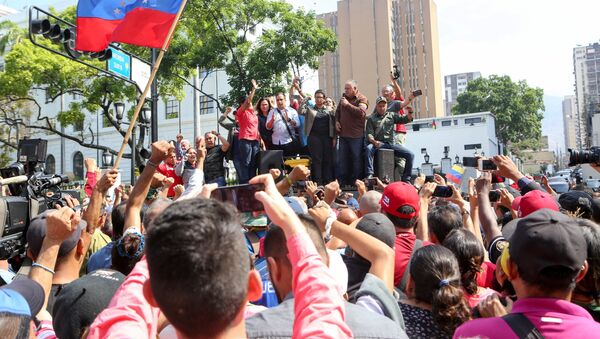 Venezuela's National Constituent Assembly President Diosdado Cabello speaks during a rally in support of the government of Venezuela's President Nicolas Maduro in Caracas - Sputnik International