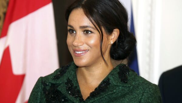 Britain's Meghan, Duchess of Sussex attends the Commonwealth Day Youth Event with Prince Harry, at Canada House in London, Monday, March 11, 2019.  - Sputnik International