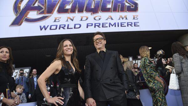 Susan Downey, left, and Robert Downey Jr. arrive at the premiere of Avengers: Endgame at the Los Angeles Convention Center on Monday, April 22, 2019 - Sputnik International