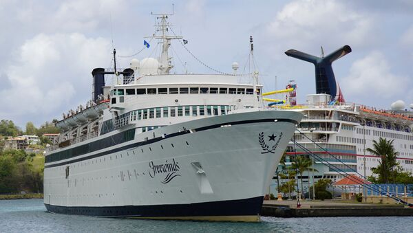 The Freewinds cruise ship is docked in the port of Castries, the capital of St. Lucia, Thursday, May 2, 2019. - Sputnik International