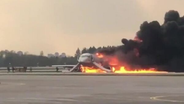 Fire at Sheremetyevo airport - Sputnik International