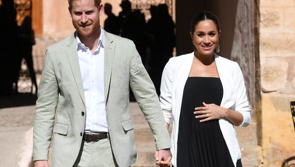 Britain's Meghan, Duchess of Sussex and Prince Harry the Duke of Sussex visit the Andalusian Gardens in Rabat, Morocco February 25, 2019 - Sputnik International