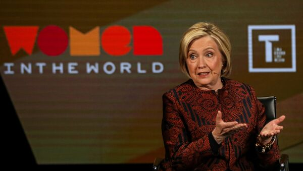 Former Secretary of State Hillary Clinton speaks on stage at the Women In The World Summit in New York - Sputnik International