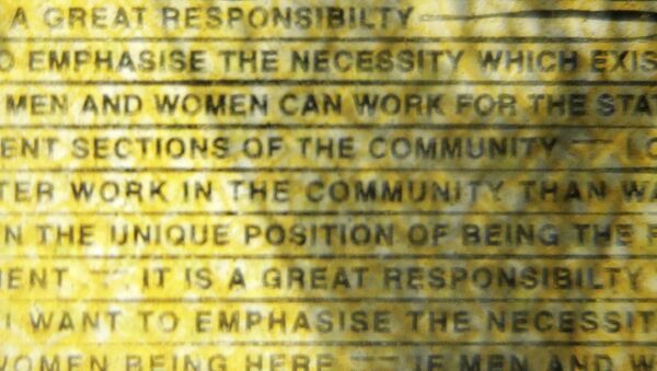 The word responsibility is printed with a missing i in the Australian $50 note photographed in Sydney, Australia, Thursday, May 9, 2019 - Sputnik International