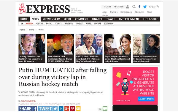 'Putin HUMILIATED' was the Express's take. - Sputnik International