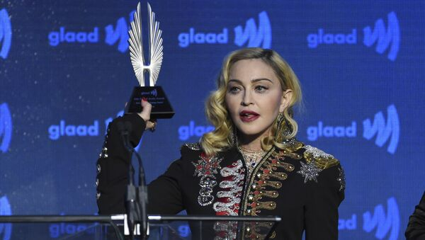 Honoree Madonna accepts the advocate for change award at the 30th annual GLAAD Media Awards at the New York Hilton Midtown on Saturday, May 4, 2019, in New York - Sputnik International