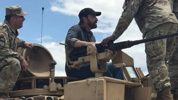 Troopers from 2-8 CAV had the honor to work with THE Chuck Norris - Sputnik International