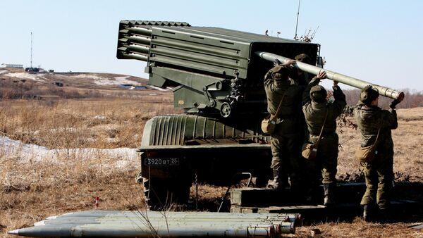 Russian military drills in the Far East, Tornado universal multiple rocket launcher - Sputnik International